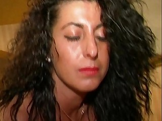 Italian amateur brunette plays with a vibrator