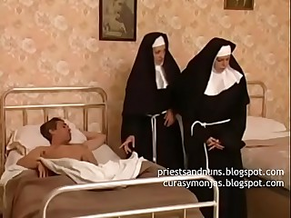 two nuns take advantage of ill man on bed - Watch the full video and others here Priestsandnuns.blogspot.com